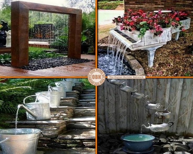 56 best images about water features on pinterest for Garden sectioning ideas