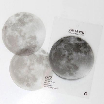 今夜は月が綺麗ですね。 Full Moon Sticky Note | まとめのインテリア - デザイン雑貨とインテリアのまとめ