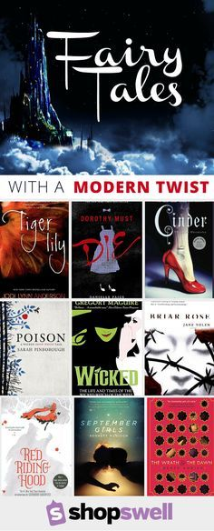 Fairy Tales with a modern twist. From re-tellings to modern versions featuring your favorite villains and heroes, these are fun and dark twists that you won't be able to put down.