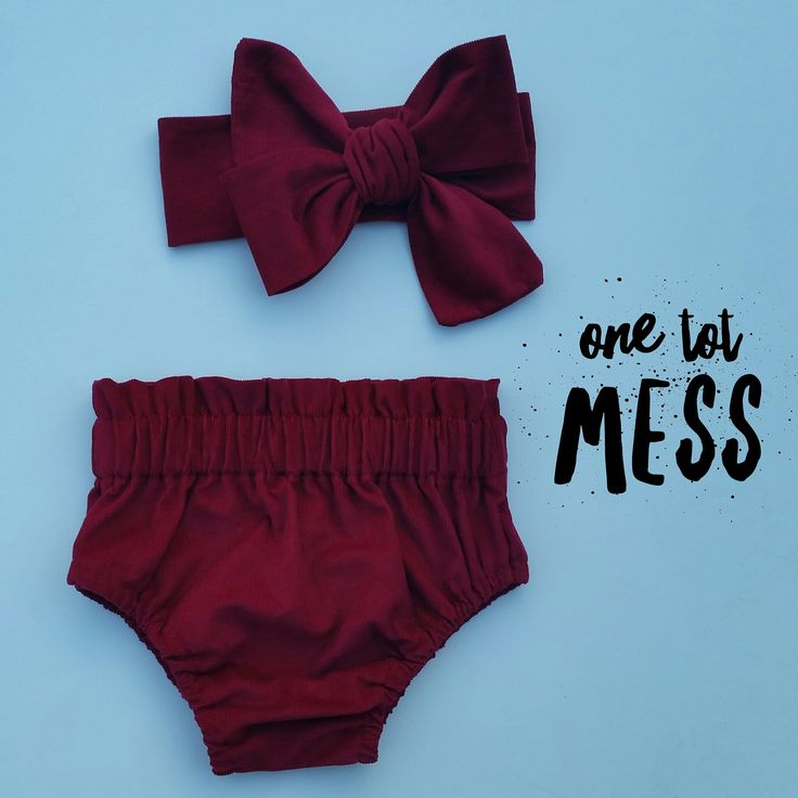 One Tot Mess — Maroon Corduroy High waisted bottoms   wrap add on