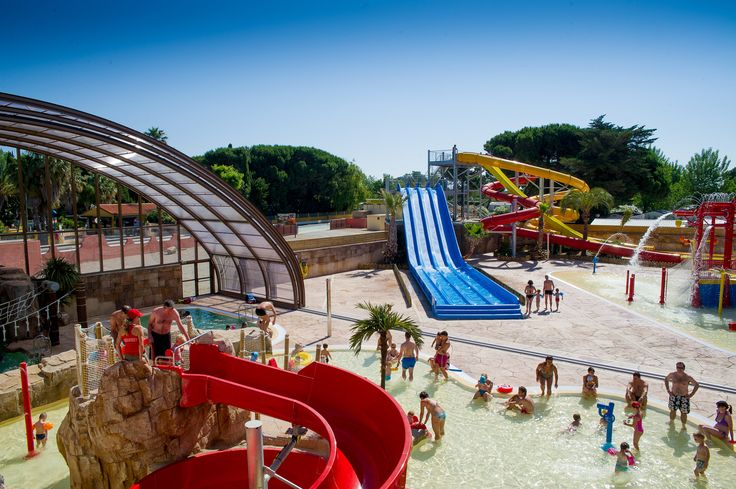 The amazing new waterpark at Camping la Sirene, Languedoc http://www.canvasholidays.co.uk/france/languedoc-roussillon/lr01v/camping-la-sirene