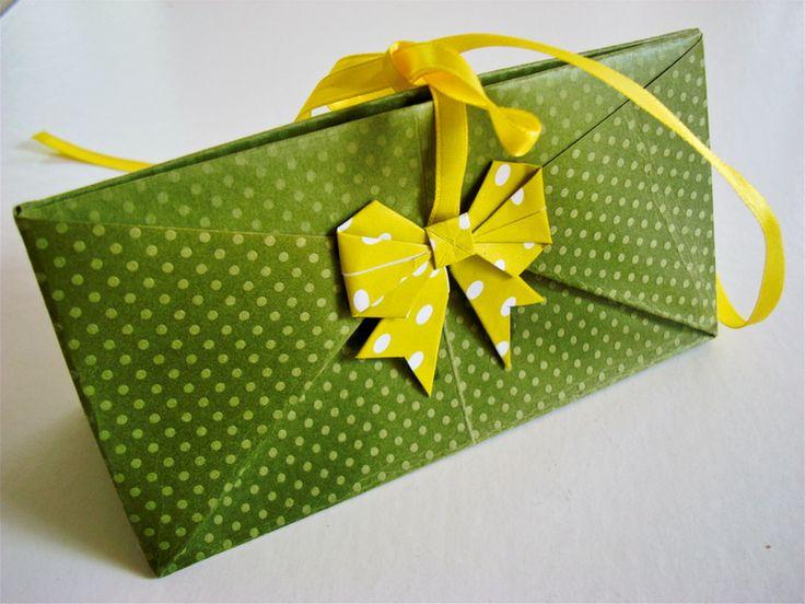 pochette cadeau origami 15 5x6cm emballage l 39 atelier de claudia fait maison petits et. Black Bedroom Furniture Sets. Home Design Ideas