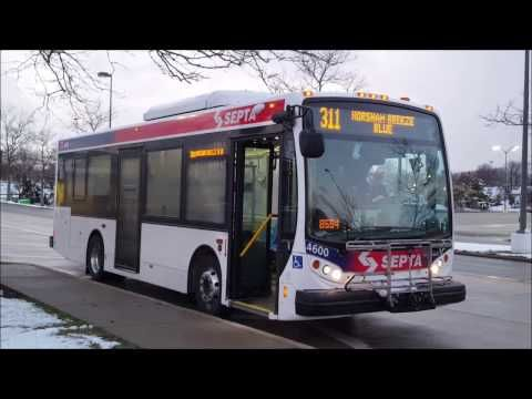 (New bus route!) On board Septa 4600 311 Horsham Breeze Blue - YouTube
