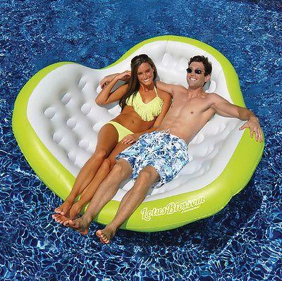 "Pool Lotus Blossom Giant Inflatable Float Swimline 80""L x 75""W"