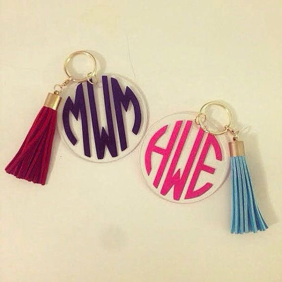 Keychain with Tassel | White Elephant Designs, $17