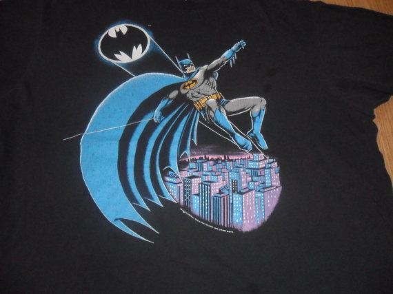 Men's Vintage 1980s Batman TShirt Retro Rare DC by RetroFreshTees, $52.00