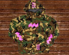 Eindhoven Beeldmerk Camouflage Jas voor de EHV Vrijschutters.