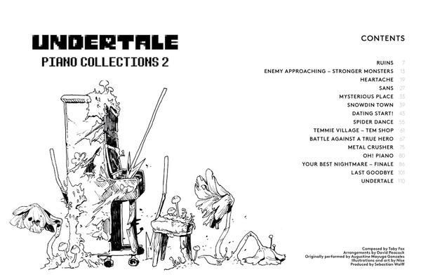 Undertale Piano Collections 2 Physical Sheet Music Book Sheet