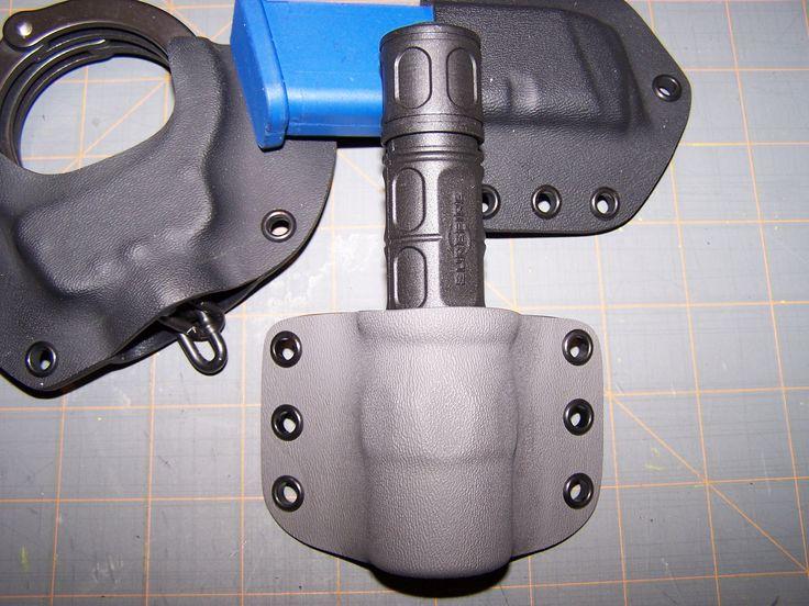 DIY Kydex work- Flashlight holster