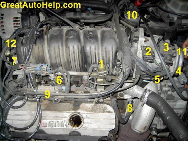 3800 V6 Engine Sensor Locations Pictures And Diagrams Crankshaft Position Sensor Map Sensor 4l60e Transmission Rebuild