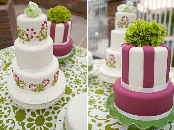 love the colors : Cakes Ideas, Pretty Cakes, Cakes Tables, Green Wedding Cakes, Color Cakes, Cakes Wedding, Cakes Pictures, Backyard Wedding, Wedding Cakes Pink