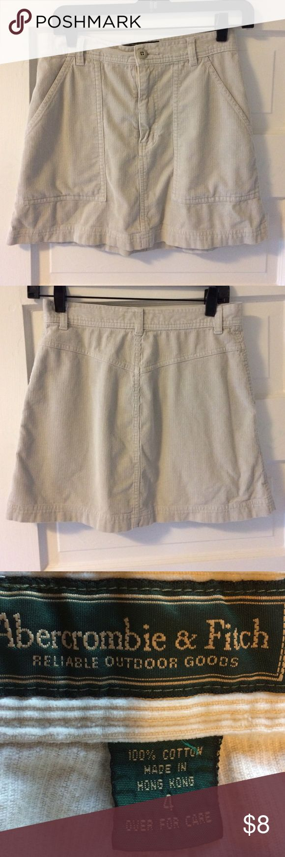 Abercrombie & Fitch Corduroy Skirt Gently used staple! Abercrombie & Fitch Skirts
