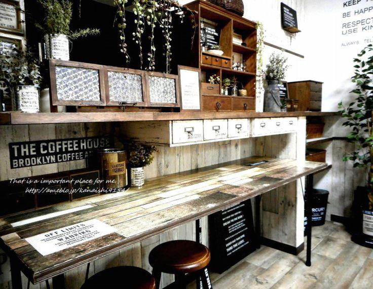 セリアのリメイクシートで天板をカフェ風に ♪ natural antique 心地いい我が家に