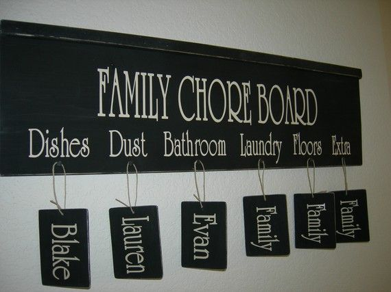 I love the look of this but think I would like to have kids names instead of chore listed, and then hang tags of the actual chores to be done.