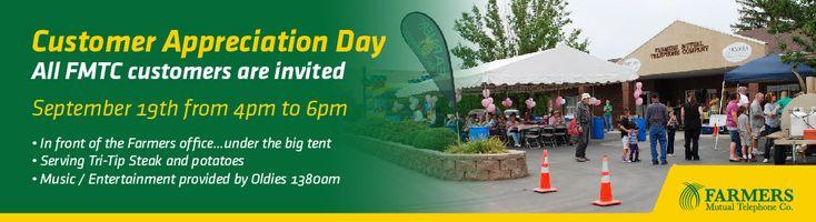 Fruitland Event - FMTC is having a Customer Appreciation Day Sept. 19