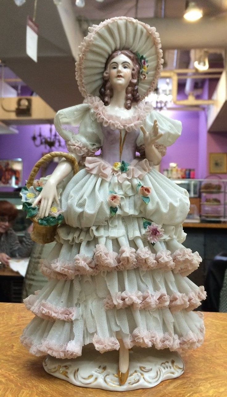 234 best images about Dresden lace figurines on Pinterest