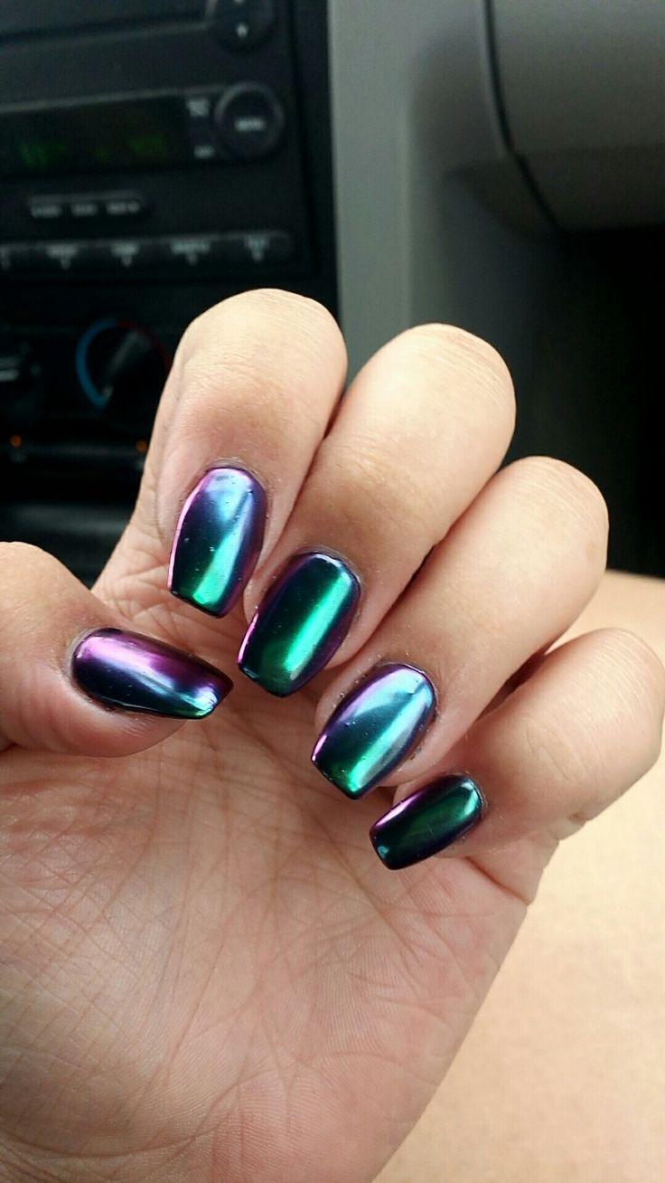 15+ best ideas about Mirror Nails on Pinterest | Metallic ...
