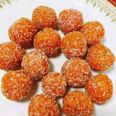 CARROT COCONUT LADOO: How to make Carrot Coconut Ladoo in Tamil Language. Easy Step by Step recipe for Carrot Coconut Ladoo with ingredients/images - BetterButter