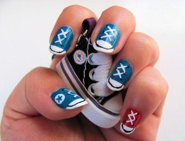 Converse Nail Art - 50 Mind Blowing Designs of Nail Art  <3 <3