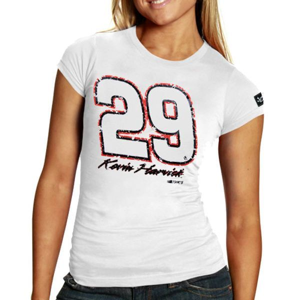 Chase Authentics Kevin Harvick Women's Big Number T-Shirt - White - $6.99