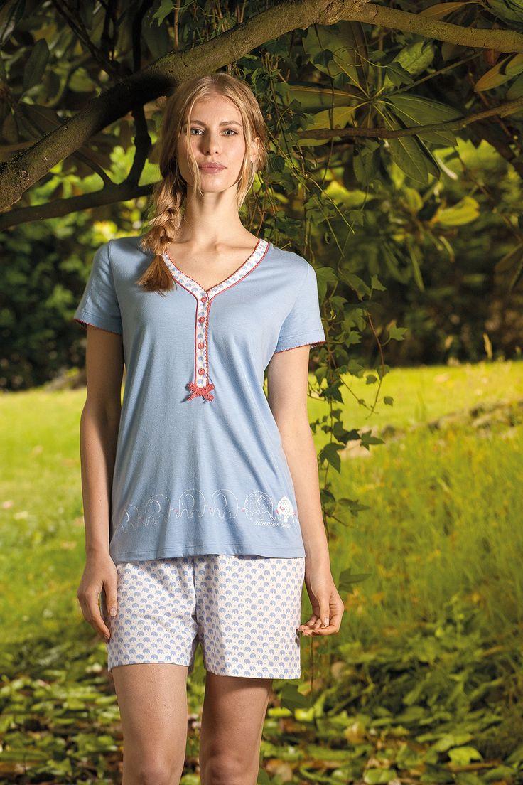 Blue elephant #señoretta #sleepwear #summer