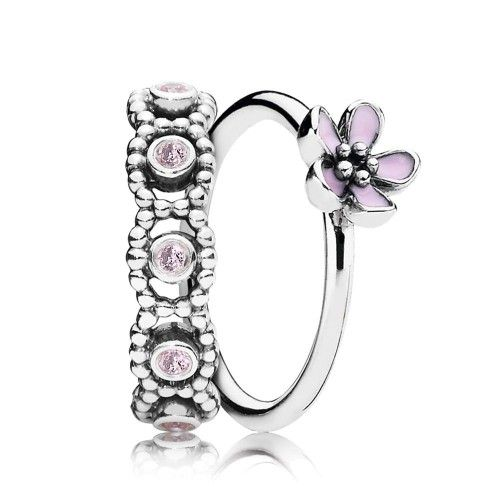 Cheap Pandora Pastel Posy Ring Stack Online
