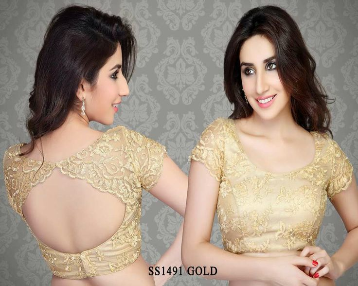 Gold Cotton Silk Fabric Saree Blouse