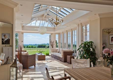 A wonderful light filled room with bi-folding doors opening to the garden beyond.  In my dreams...