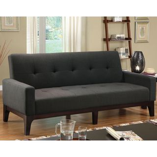 Guest room? @Overstock.com - Accommodate guests in style with this contemporary sofa bed. The solid wood frame is upholstered in a stylish solid charcoal fabric with a tufted diamond pattern along the back and seat. The padded seating converts into a comfortable bed.http://www.overstock.com/Home-Garden/Charlie-Charcoal-Finish-Sofa-Bed/6626836/product.html?CID=214117 $512.99