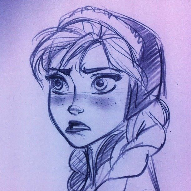 Anna sketch from Frozen | Drawing | Pinterest