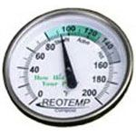 20 Inch Reotemp Backyard Compost Thermometer - This is the basic standard thermometer used by backyard humanure composters.