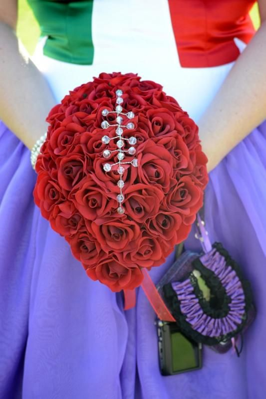 Red Rose Football Inspired Bouquet
