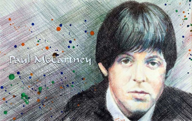 Grafik: Alex Devai Color Pencil, aquarell Paul McCartney