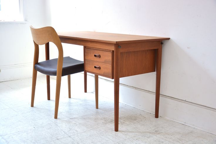 sexy little student desk with sliding drawer casette. £395
