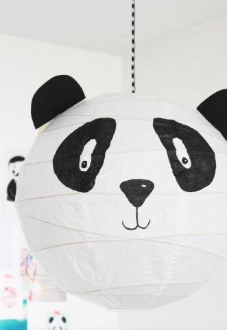 Eine Panda-Lampe fürs Kinderzimmer | Panda lamp | KINNERTIED.de