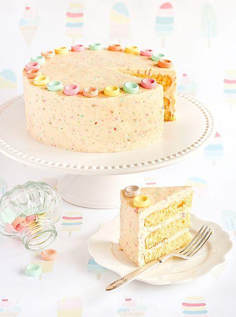 Fruit Tingles Cake (Orange Cake with Fizzy Sherbet Icing)