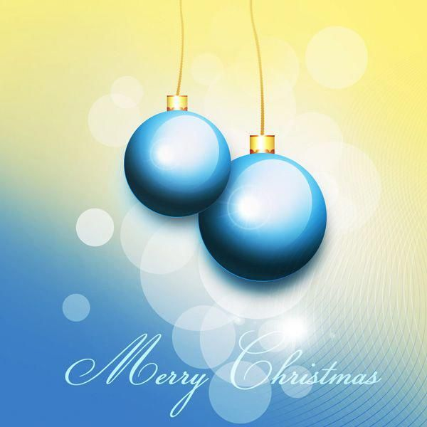 Christmas In The Adobes 2020 How to Create Christmas Greeting Card with Blue Christmas balls in