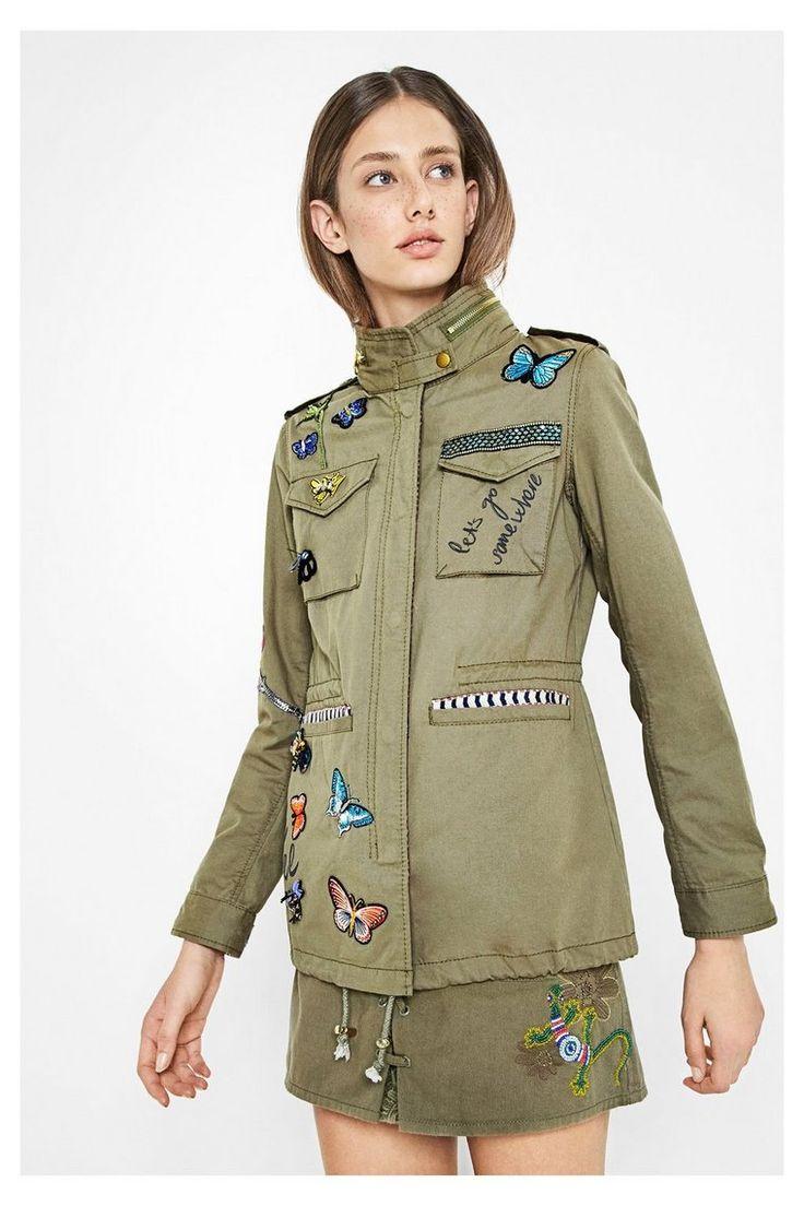 Parka cargo verde militar para mujer - Taque | Desigual.com 4001
