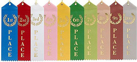 Standard Place Ribbons  Overland Park Awards - Ribbons