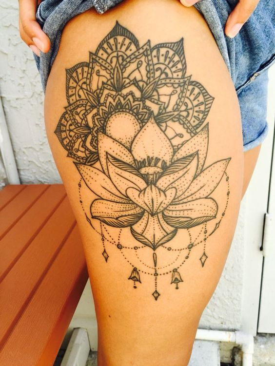 thigh tattoos women