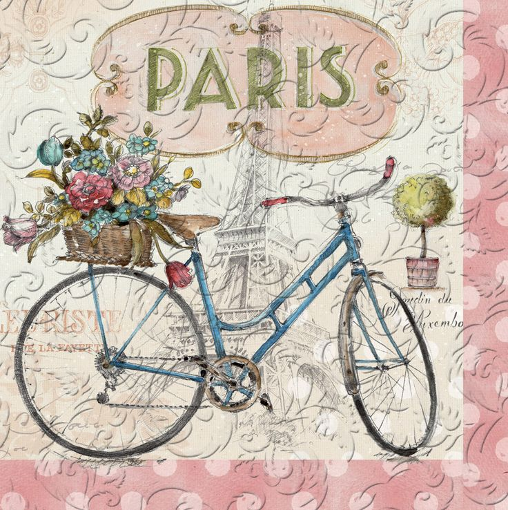 Paris Forever Embossed Paper Luncheon Napkin