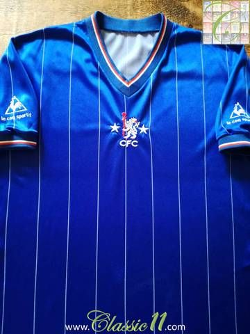 Official Le Coq Sportif Chelsea home football shirt from the 1981/82 season.