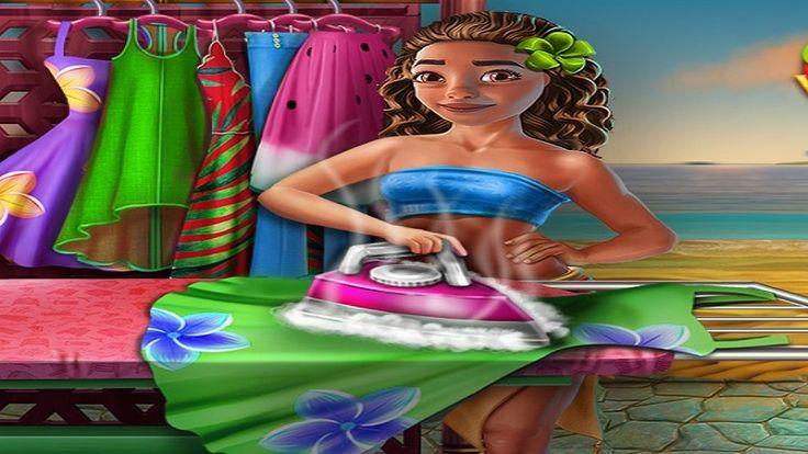 Em Moana Lavando Roupas, Moana é uma garota bonita e estilosa. Além disso, Moana ela gosta de cuidar da casa e de suas roupas. Para que suas roupas fiquem sempre limpas e bonitas, ela mesma lava e passar as roupas. Hoje é mais um dia que Moana irá cuidar de suas roupas. E você, menina, poderá juntar-se a ela nessa divertida tarefa de lavar e passar. Primeiro, separe as roupas coloridas e brancas.