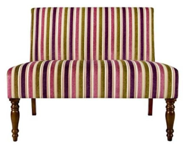 Sofa Green Pink Purple Stripes Seductive Sofas