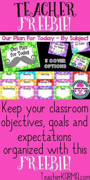 FREE Objective & Standard DISPLAY KIT for Teachers   FREEBIE: Objective / standard display kit!! This FREE organizational tool will help you to keep your grade level objectives classroom expectations and student goals organized! OUR PLAN FOR TODAY:Click here to get your freeobjectives and standards display kit. Best wishes! Jen Bradshaw  classroom expectations display free grade level objectives student goals teacherkarma.com