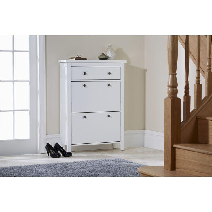 Hazelwood Home Danielle 2-Tier Shoe Cabinet