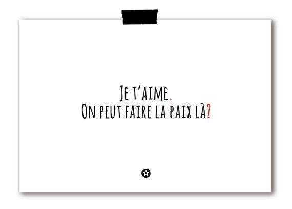 Carte On Fait la Paix par lifeonmarsdesign sur Etsy, 3.50