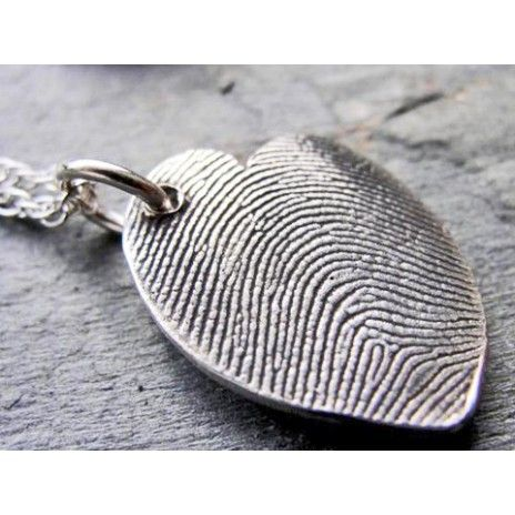 Fingerprint jewelry - love this idea for grandparents. great gift!