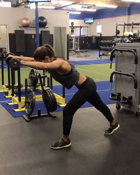"10.9k Likes, 169 Comments - Alexia Clark (@alexia_clark) on Instagram: ""Dumbbells 40 seconds of each movement with 20 seconds rest between each movement and round! 3-5…"""