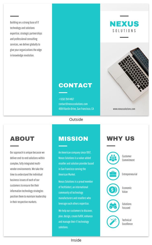 Technology Tri-fold Brochure Template Template